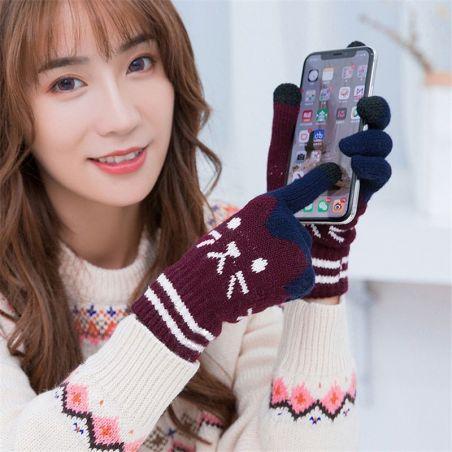 gants tactiles femme