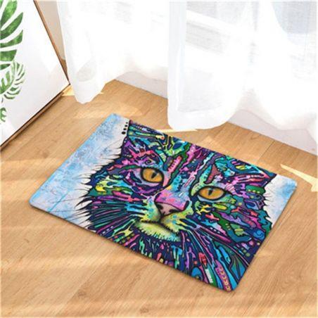 tapis avec motif chat