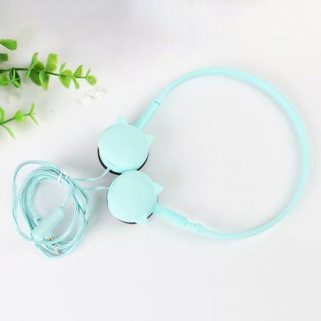 Casque audio motif oreilles de chat