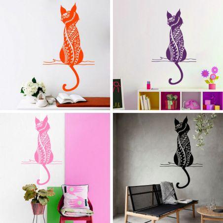 autocollant chat decoratif
