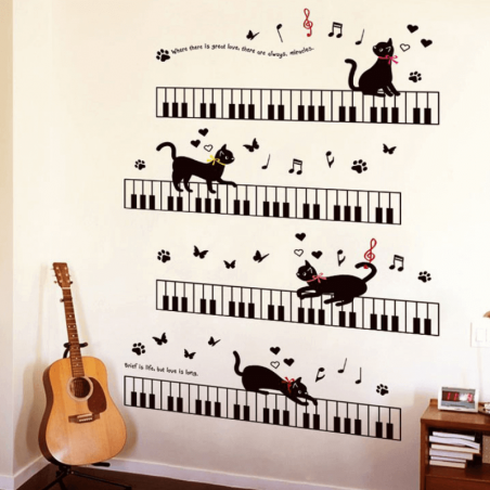 stickers muraux de chats