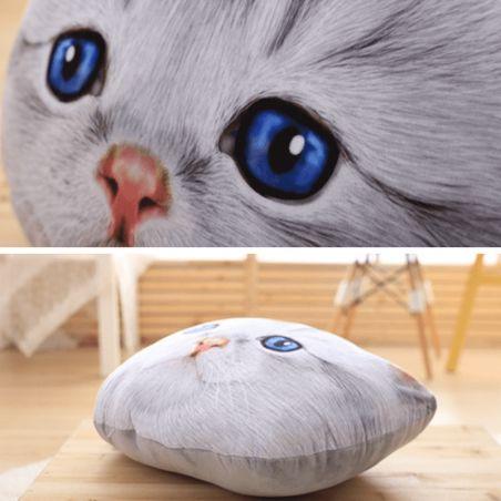 coussin forme tete de chat