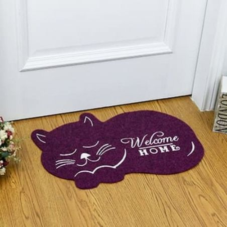Tapis cuisine forme chat