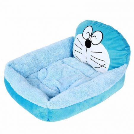 couchage chat bleu