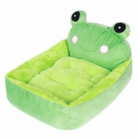 couchage pour chat vert
