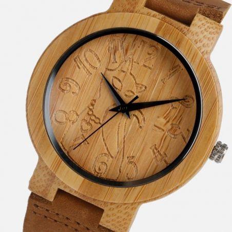 montre en bambou