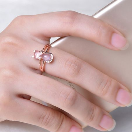 bague forme chat