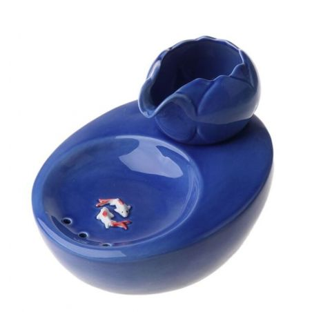 fontaine ceramique chat