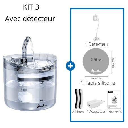 fontaine à eau pour chat avec détecteur de mouvement