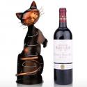 Porte bouteille chat