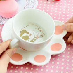 Tasse porcelaine motif chat