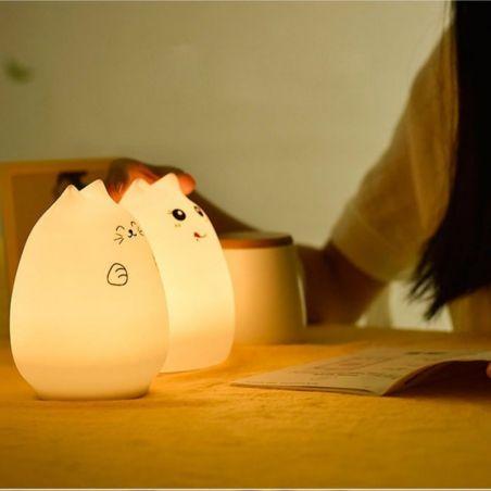 lampe de chevet chat