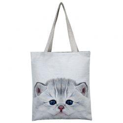 Tote bag motif chaton