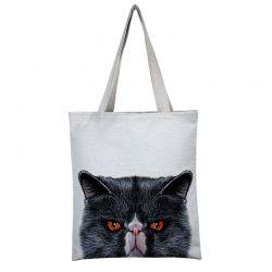 Tote bag avec chat noir