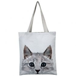 Sac toile avec chat