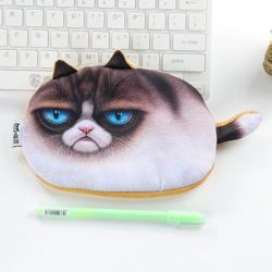 Trousse maquillage motif chat