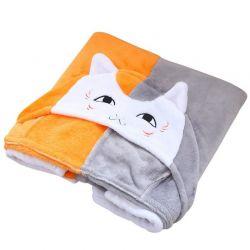 Cape à capuche en forme de tête de chat
