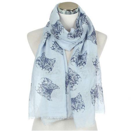 foulard imprimé chat