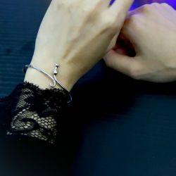 Bracelet Chat en argent