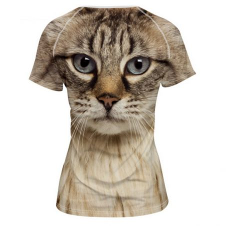Tee shirt chat fille
