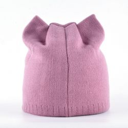 Bonnet oreilles de chat rose