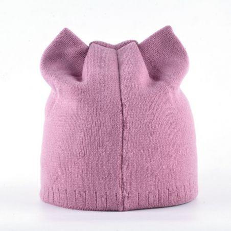 Bonnet oreilles de chat rose