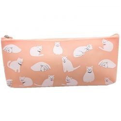 Trousse motif chat blanc