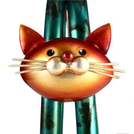 Objet décoratif motif chat