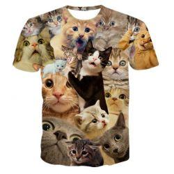 Tee shirt avec tete de chats