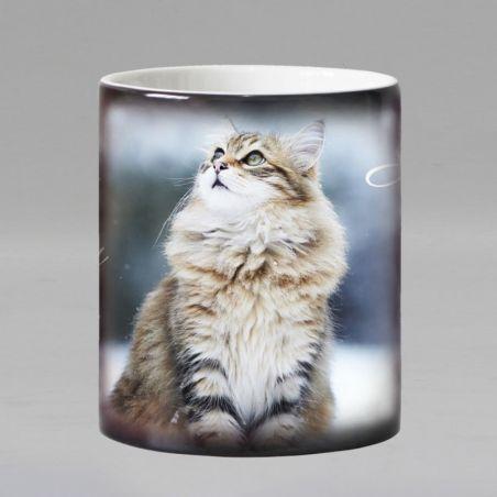 Mug qui réagit à la chaleur motif chat