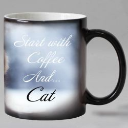 Tasse thermosensible chat