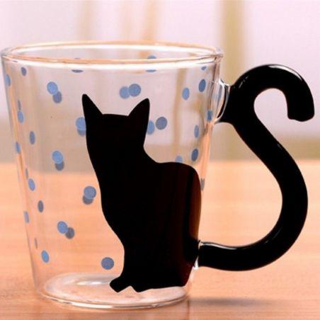 Tasse chat anse en forme de queue