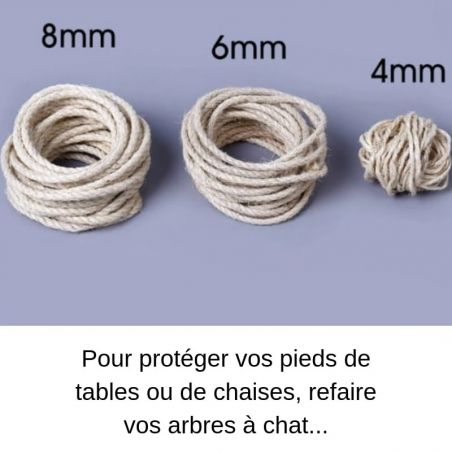 Sisal 6mm arbre a chat