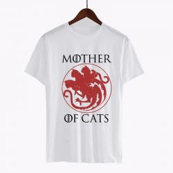 Tee shirt coton motif chat
