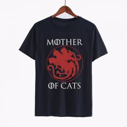 T shirt noir Maman chats