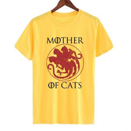 Tee shirt femme motif chat