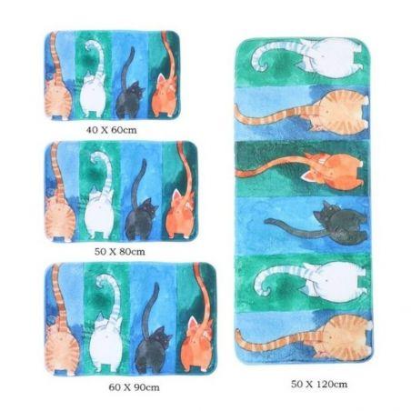tapis salle de bain bleu