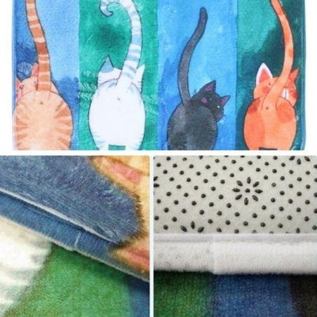 tapis pour salle de bain motif chat