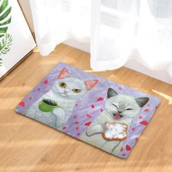 Tapis chat blanc original