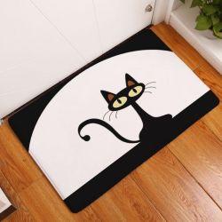 Tapis lavable avec chat