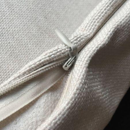 Housse coussin chat avec zip