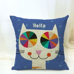 Housse coussin chat design