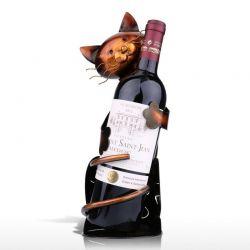 Présentoir à bouteille chat original
