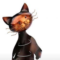 Porte bouteille fer forme de chat