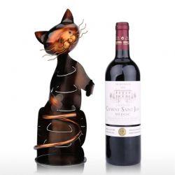 Présentoir pour bouteille en forme de chat