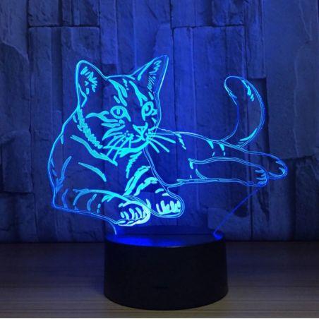 lampe chat 3d