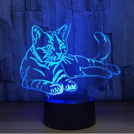 lampe led 3d chat