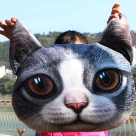 Oreiller forme de chat 3D