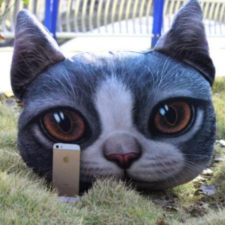 chat en peluche realiste