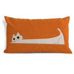 Housse de coussin rectangulaire chat